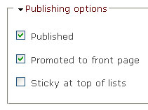 Publishing Settings
