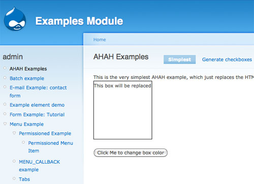 Example Module AHAH Example Page
