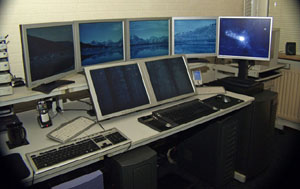 Impressive Desktop of Monitors