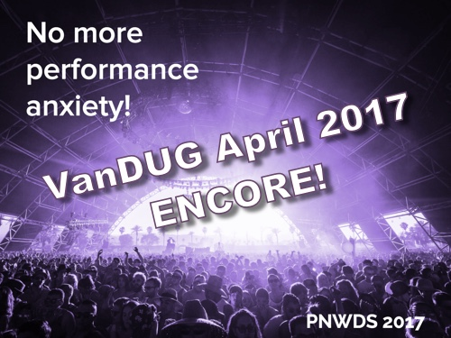 No more performance anxiety encore!